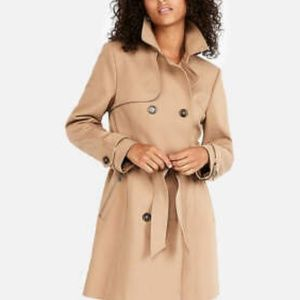 Express Trench Coach Double Breasted Zip Pockets